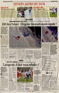 01-27-2013 Le Dauphine Libere