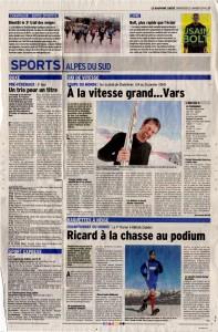 22-01-2014 Le Dauphine Libere