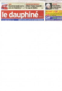 01-04-2014 Le Dauphine Libere pag. 1